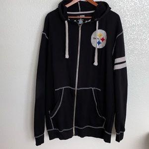 Pittsburgh Steelers Full Zip Hooded Sweater